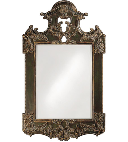 Howard Elliott Collection 2068XL Park Lane 94 X 64 inch Antique Black Wall Mirror, Rectangle photo