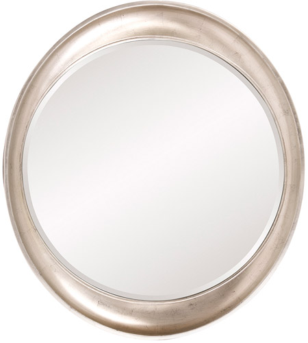 Howard Elliott Collection 2070 Ellipse 39 X 35 inch Burnished Silver Leaf Wall Mirror, Round photo