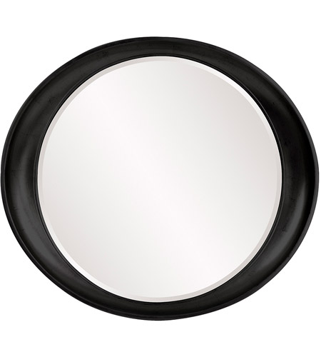 Howard Elliott Collection 2070BL Ellipse 39 X 35 inch Black Wall Mirror, Round photo