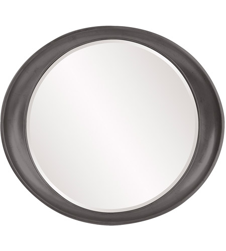 Howard Elliott Collection 2070CH Ellipse 39 X 35 inch Glossy Charcoal Wall Mirror photo