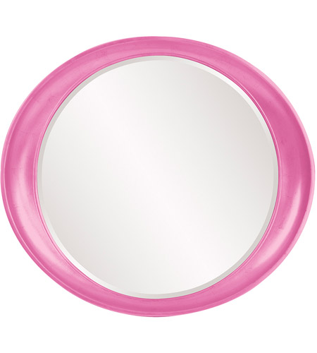 Howard Elliott Collection 2070HP Ellipse 39 X 35 inch Hot Pink Wall Mirror, Round photo