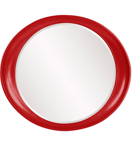 Howard Elliott Collection 2070R Ellipse 39 X 35 inch Red Wall Mirror, Round photo