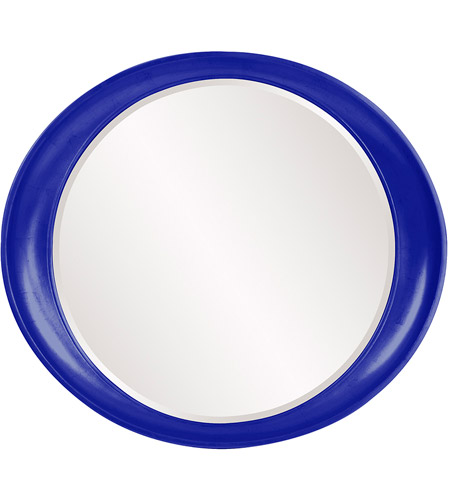 Howard Elliott Collection 2070RB Ellipse 39 X 35 inch Royal Blue Wall Mirror, Round photo