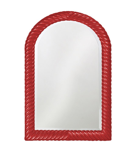 Howard Elliott Collection 2107R Montreal 40 X 26 inch Red Wall Mirror, Rectangle photo