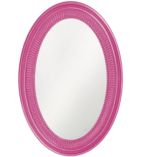 Howard Elliott Collection 2110HP Ethan 31 X 21 inch Glossy Hot Pink Wall Mirror photo