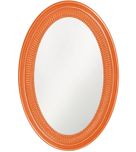 Howard Elliott Collection 2110O Ethan 31 X 21 inch Glossy Orange Wall Mirror photo