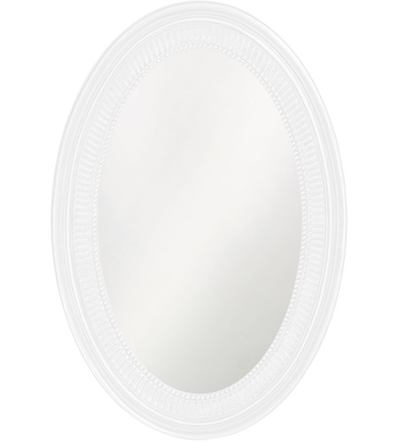 Howard Elliott Collection 2110W Ethan 31 X 21 inch White Wall Mirror, Oval photo