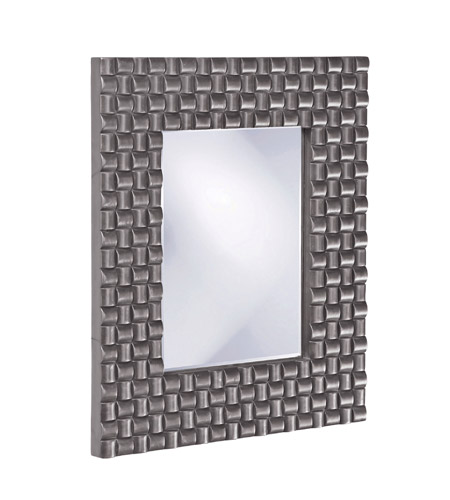 Howard Elliott Collection 21114CH Justin 26 X 22 inch Charcoal Gray Wall Mirror, Rectangle photo