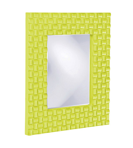 Howard Elliott Collection 21114MG Justin 26 X 22 inch Green Wall Mirror, Rectangle photo