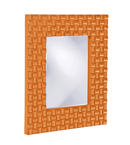 Howard Elliott Collection 21114O Justin 26 X 22 inch Orange Wall Mirror, Rectangle photo