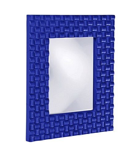 Howard Elliott Collection 21114RB Justin 26 X 22 inch Royal Blue Wall Mirror, Rectangle photo
