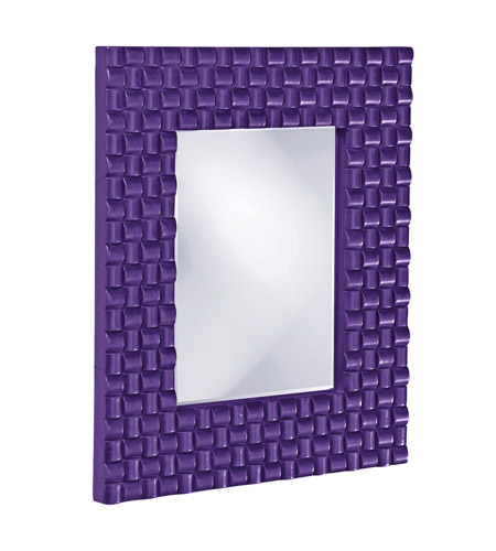 Howard Elliott Collection 21114RP Justin 26 X 22 inch Royal Purple Wall Mirror, Rectangle photo