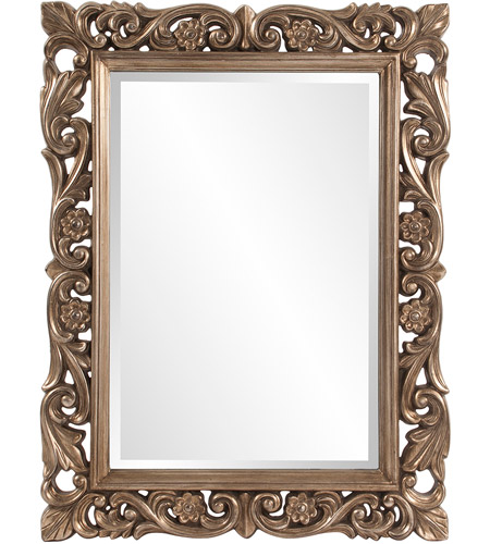 Howard Elliott Collection 2113 Chateau 42 X 31 inch Antique French Pewter Wall Mirror, Rectangle photo