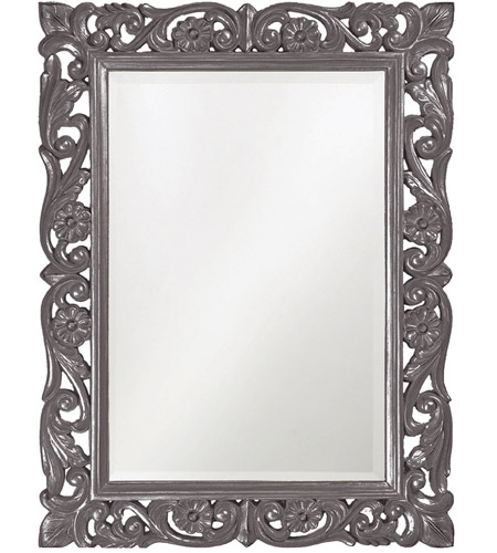 Howard Elliott Collection 2113CH Chateau 42 X 31 inch Charcoal Gray Wall Mirror, Rectangle photo
