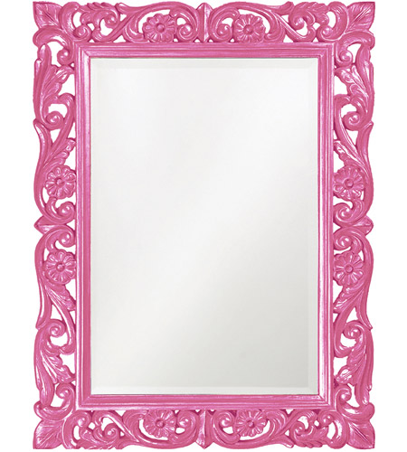 Howard Elliott Collection 2113HP Chateau 42 X 31 inch Glossy Hot Pink Wall Mirror photo