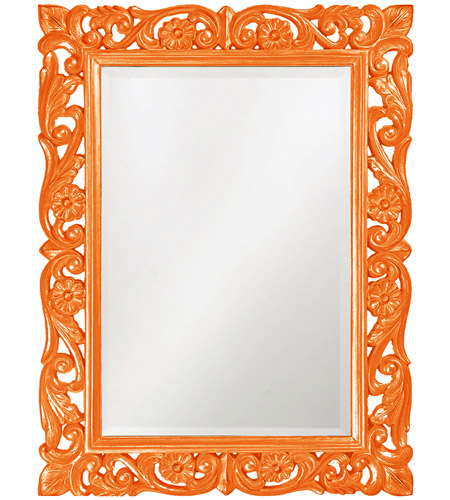Howard Elliott Collection 2113O Chateau 42 X 31 inch Orange Wall Mirror, Rectangle photo