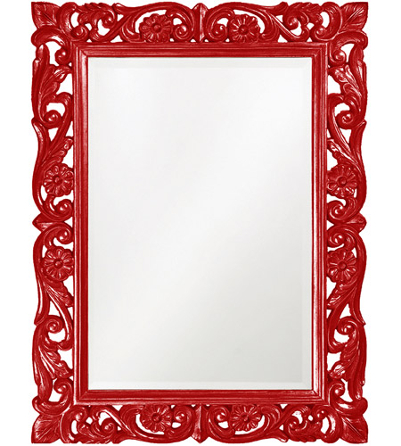 Howard Elliott Collection 2113R Chateau 42 X 31 inch Red Wall Mirror, Rectangle photo