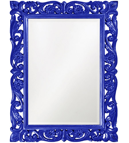 Howard Elliott Collection 2113RB Chateau 42 X 31 inch Royal Blue Wall Mirror, Rectangle photo