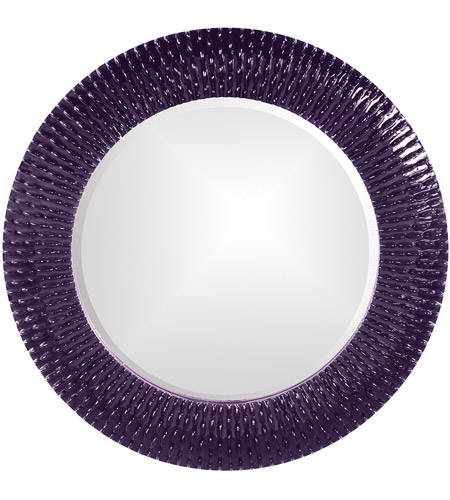 Howard Elliott Collection 21143RP Bergman 32 X 32 inch Royal Purple Wall Mirror, Round, Small photo