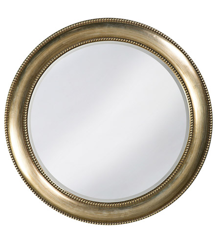 Howard Elliott Collection 2118 Saturn 40 X 40 inch Burnished Silver Leaf Wall Mirror, Round photo