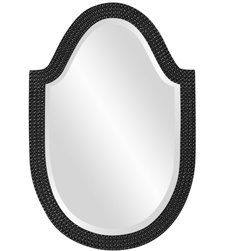 Howard Elliott Collection 2125BL Lancelot 32 X 21 inch Glossy Black Wall Mirror, Oval photo