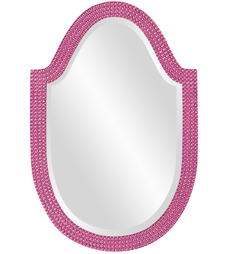 Howard Elliott Collection 2125HP Lancelot 32 X 21 inch Hot Pink Wall Mirror, Oval photo