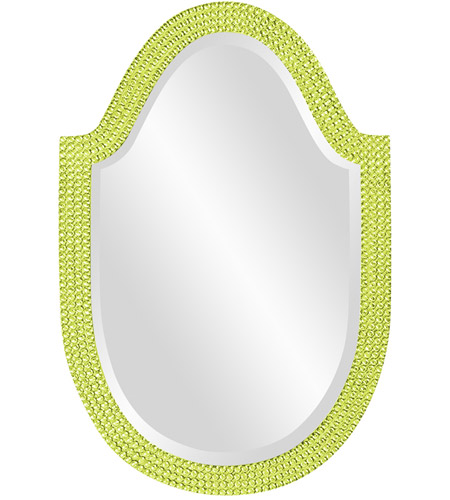Howard Elliott Collection 2125MG Lancelot 32 X 21 inch Moss Green Wall Mirror, Oval photo