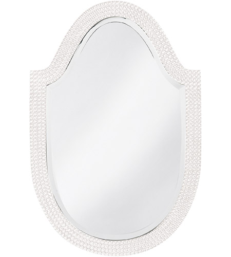 Howard Elliott Collection 2125W Lancelot 32 X 21 inch White Wall Mirror, Oval photo