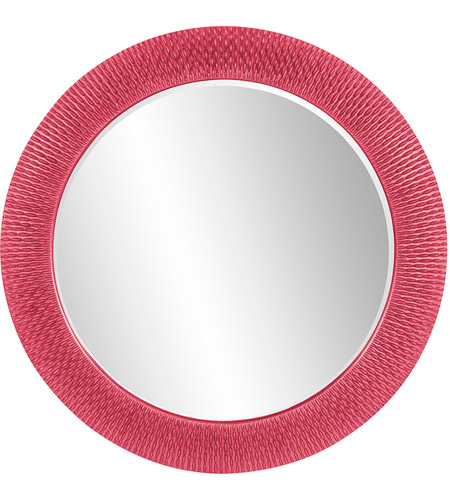 Howard Elliott Collection 2128HP Bergman 32 X 32 inch Hot Pink Wall Mirror, Round, Large photo