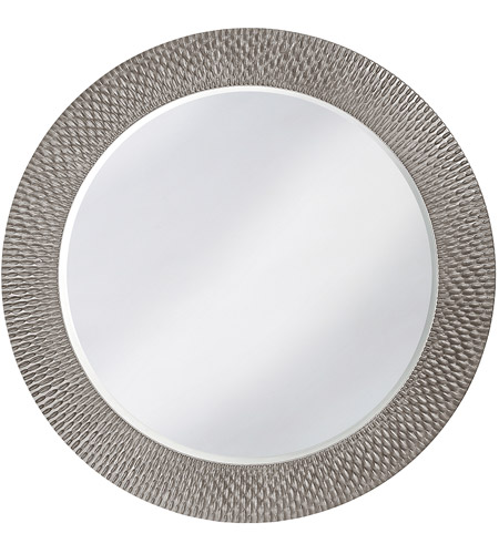 Howard Elliott Collection 2128N Bergman 32 X 32 inch Nickel Wall Mirror, Round, Large photo