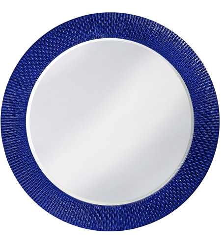 Howard Elliott Collection 2128RB Bergman 32 X 32 inch Royal Blue Wall Mirror, Round, Large photo