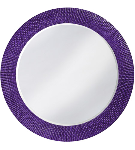 Howard Elliott Collection 2128RP Bergman 32 X 32 inch Royal Purple Wall Mirror, Round, Large photo