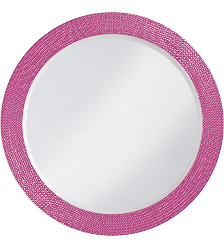 Howard Elliott Collection 2133HP Lancelot 32 X 21 inch Hot Pink Wall Mirror, Round photo