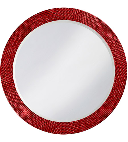 Howard Elliott Collection 2133R Lancelot 32 X 21 inch Red Wall Mirror, Round photo