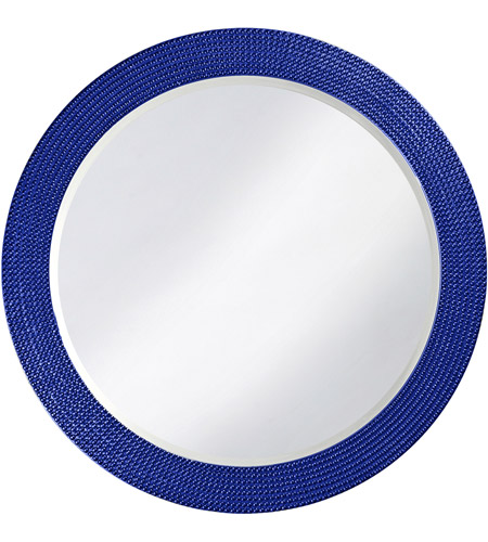 Howard Elliott Collection 2133RB Lancelot 32 X 21 inch Royal Blue Wall Mirror, Round photo