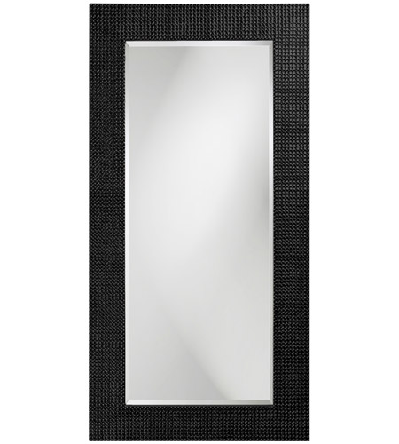 Howard Elliott Collection 2142BL Lancelot 32 X 21 inch Glossy Black Wall Mirror, Rectangle photo
