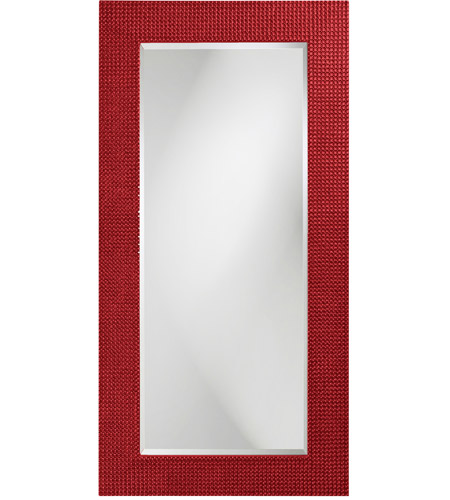 Howard Elliott Collection 2142R Lancelot 32 X 21 inch Red Wall Mirror, Rectangle photo