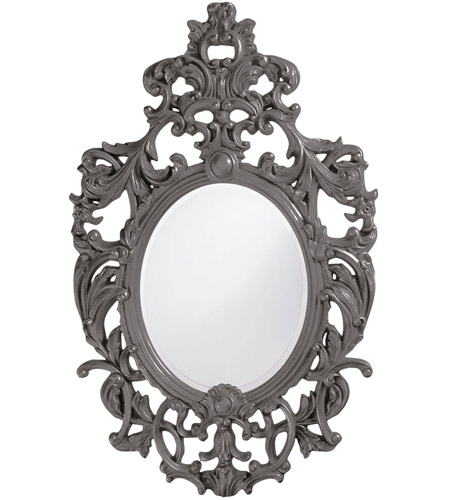 Howard Elliott Collection 2146CH Dorsiere 50 X 31 inch Glossy Charcoal Wall Mirror photo