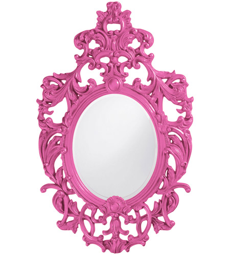Howard Elliott Collection 2146HP Dorsiere 50 X 31 inch Hot Pink Wall Mirror, Oval photo