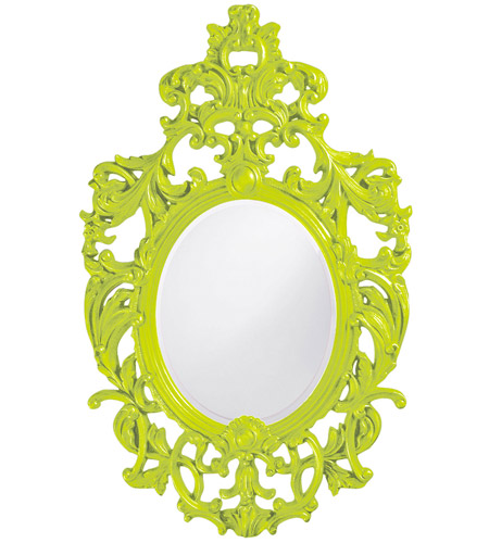 Howard Elliott Collection 2146MG Dorsiere 50 X 31 inch Green Wall Mirror, Oval