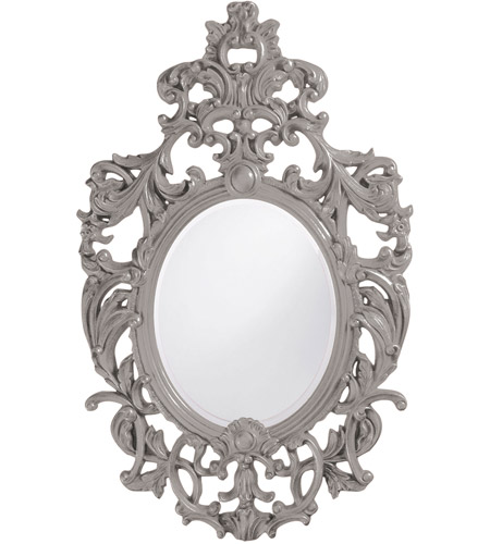 Howard Elliott Collection 2146N Dorsiere 50 X 31 inch Nickel Wall Mirror, Oval photo