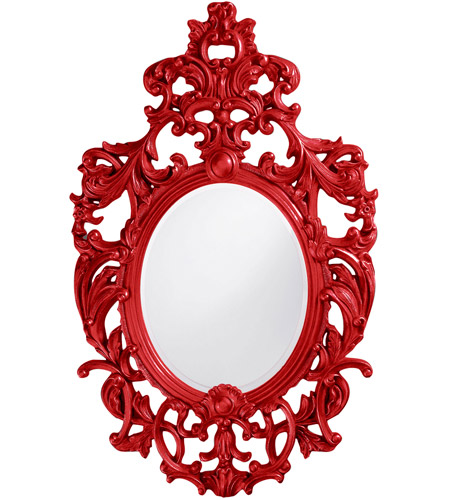 Howard Elliott Collection 2146R Dorsiere 50 X 31 inch Red Wall Mirror, Oval photo