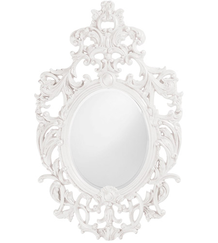 Howard Elliott Collection 2146W Dorsiere 50 X 31 inch White Wall Mirror, Oval photo