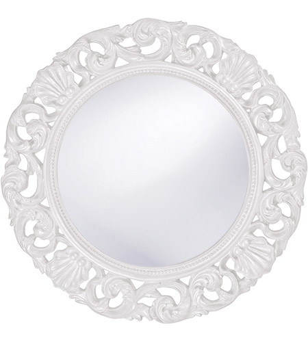 Howard Elliott Collection 2170W Glendale 26 X 26 inch White Wall Mirror, Round photo