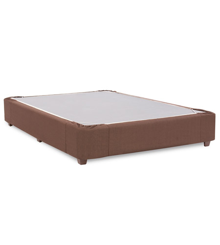 Howard Elliott Collection 241-202S Boxspring Sterling Chocolate Full Platform Bedroom Set photo