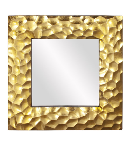 Howard Elliott Collection 25100 Marley 39 X 39 inch Gold Leaf Wall Mirror, Square photo