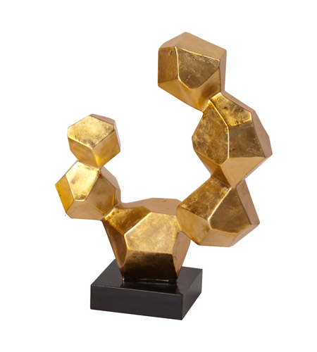 Howard Elliott Collection 25103S Geometric 24 X 22 inch Sculpture, Black Base, Small  photo