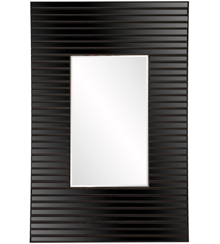 Howard Elliott Collection 29012 Edge 36 X 21 inch Black Wall Mirror, Rectangle, Bowed Effect photo