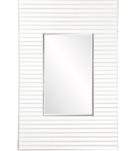 Howard Elliott Collection 29013 Edge 36 X 21 inch White Wall Mirror, Rectangular, Bowed Effect photo