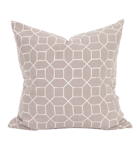 Howard Elliott Collection 3-604F Davida Kay 24 inch Trellis Slate Pillow, with Down Insert photo